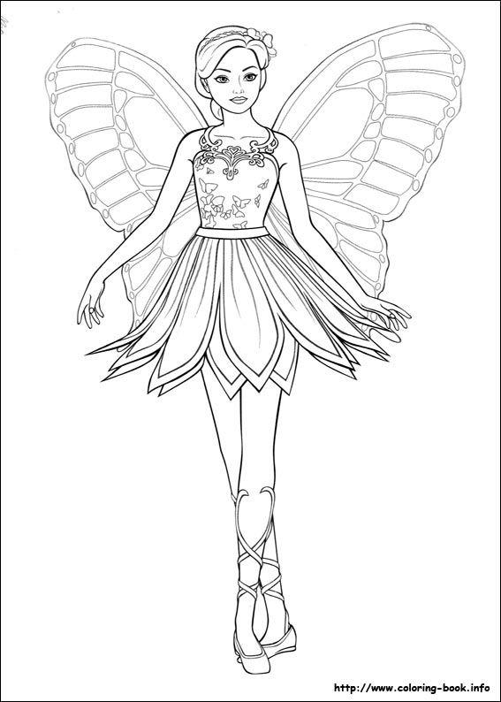 Barbie Mariposa Coloring Picture Con Imagenes Dibujos De Hadas