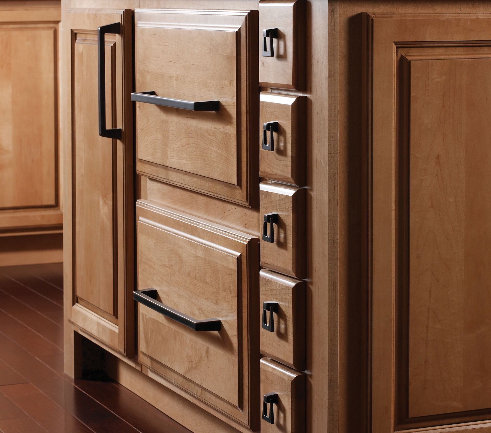 Kitchen Drawer Pulls Oil Rubbed Bronze opulence cabinet with astonishing amerock hardware: stunning oil
