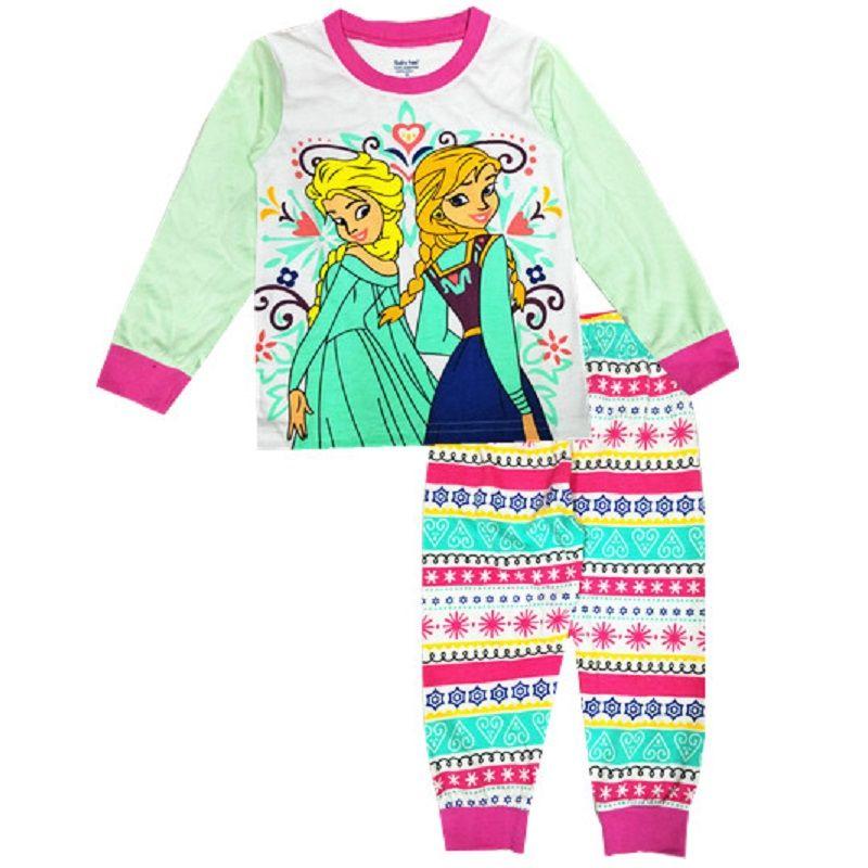 Click to Buy \u003c\u003c 2017 Christmas Baby Girls Pajamas 100 Cotton Long