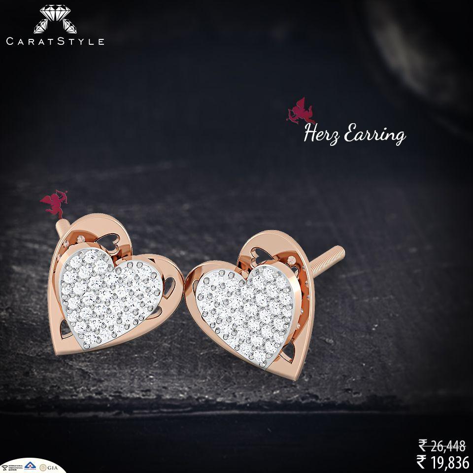Simple Yet Stunning #diamond #earring