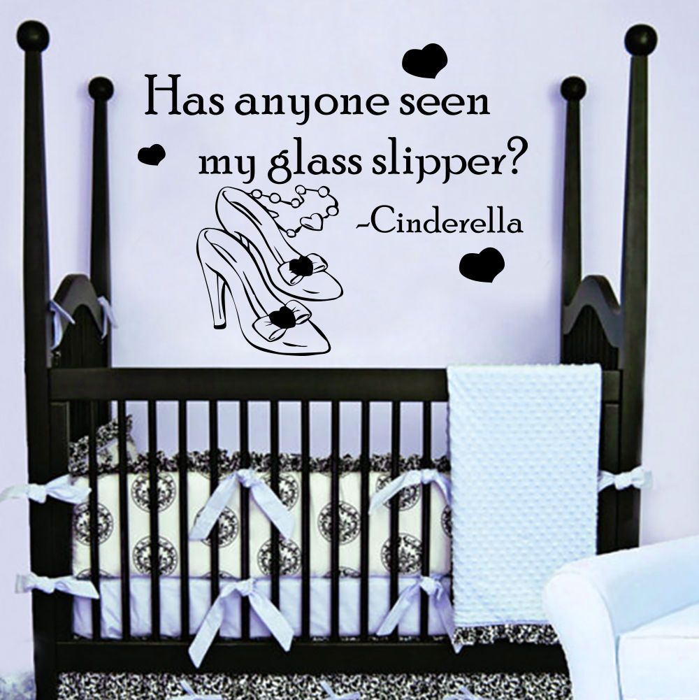 Quote Cinderella Wall Decals Shoes Decal Nursery Girl ...