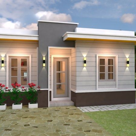 3 Bedrooms Home Design Plan 10x15m Home Ideas Small House Design Plans Small House Design House Design