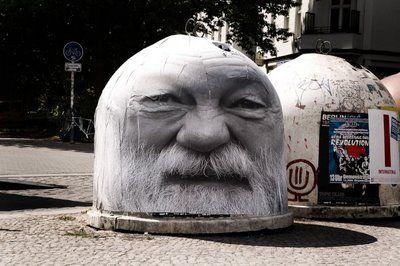 Metal Heads Urban Art in Berlin via @Chris Heathcote