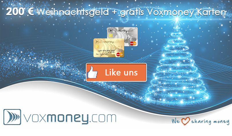 200 € Weihnachtsgeld abstauben. Einfach unsere Fanpage auf Facebook liken und du bist dabei!