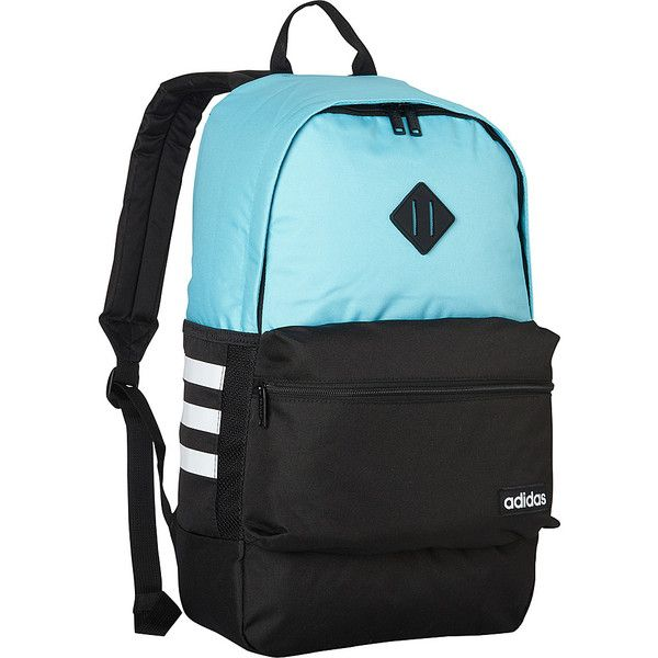 adidas Classic 3s Backpack - Blue Glow Black - School Backpacks ( 33) ❤  liked on Polyvore featuring bags, backpacks, blue, day pack backpack,  stripe bag, ... ea715ef456