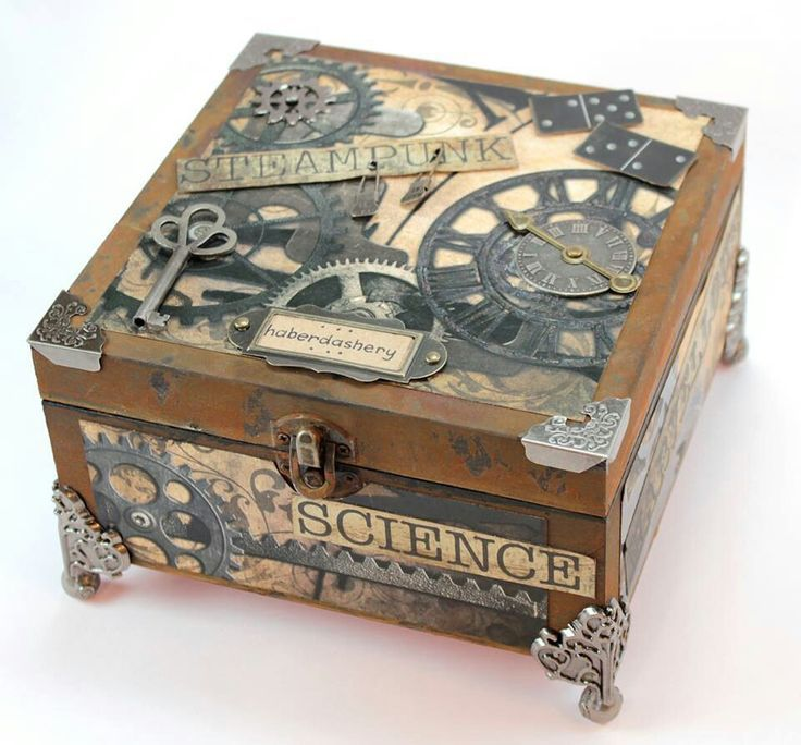 17 Best Ideas About Old Wooden Boxes On Pinterest Vintage Wooden Wooden Jewelry Boxes Jewelry Box Diy Steampunk Crafts