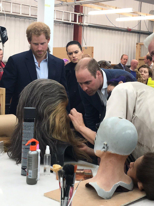 "British Royals on Twitter: ""Prince William & Prince Harry visit Star Wars creative studios & meet Chewbacca (via @RE_DailyMail) https://t.co/Zbm6lWvno7"""