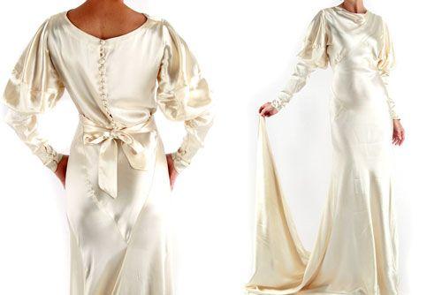 Spotted on eBay: 1930s Bias Cut Vintage Gown | Cool Vintage Wedding ...