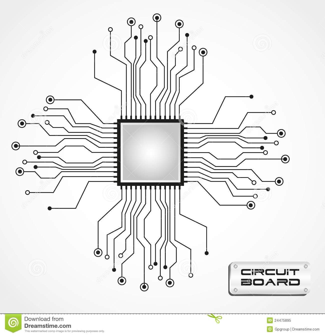 Circuit Board Cpu 24475895 1300 1343 Tattoo