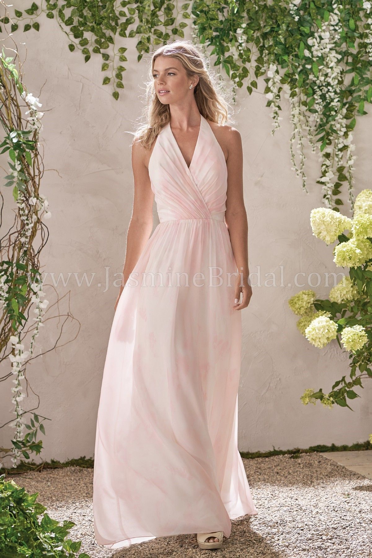 Jasmine Bridal B2 Style B193014 In Sunset Prints Color Sweet Pea