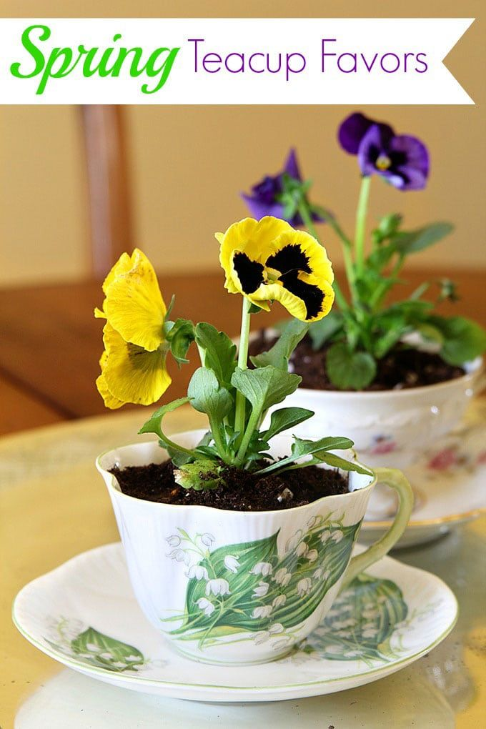 Photo of Spring Teacup Table Decorations