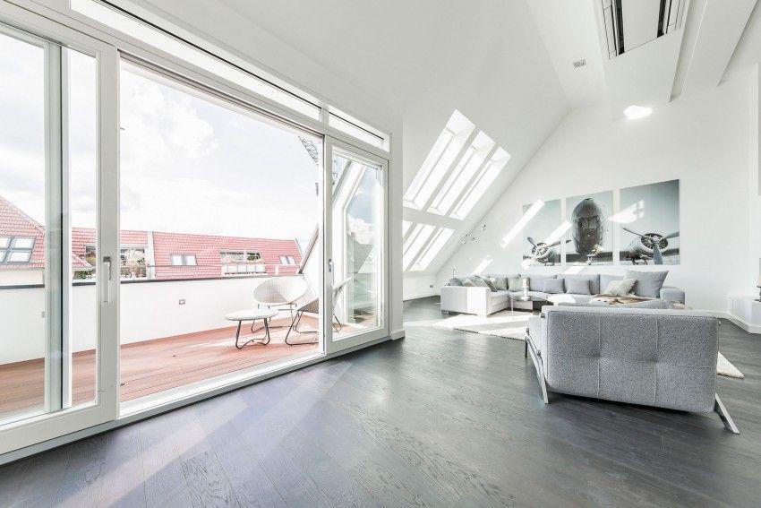Minimalistisches Penthouse Apartment in Berlin Verfügt über eine Galerie Fühlen #rooftopterrace
