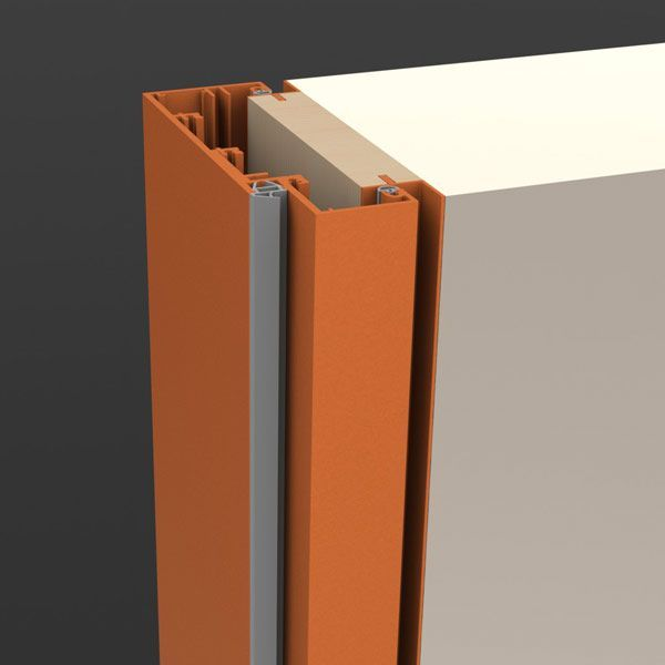 Steel frame with shadow groove architectural products for Door design with groove