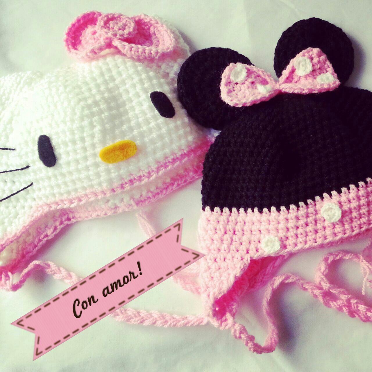 Gorro Minnie Mouse Crochet Tejidos de Punto 133305 | gorros | Pinterest