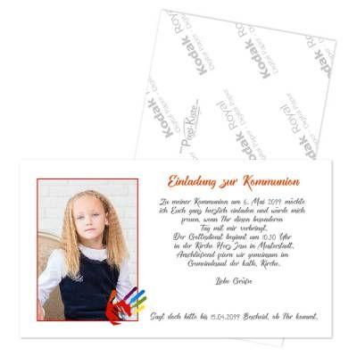 einladungskarten erstkommunion «hand in hand mit gott