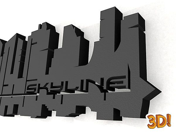 detail der skyline aus unserer 3d wandtattoo serie 3d. Black Bedroom Furniture Sets. Home Design Ideas