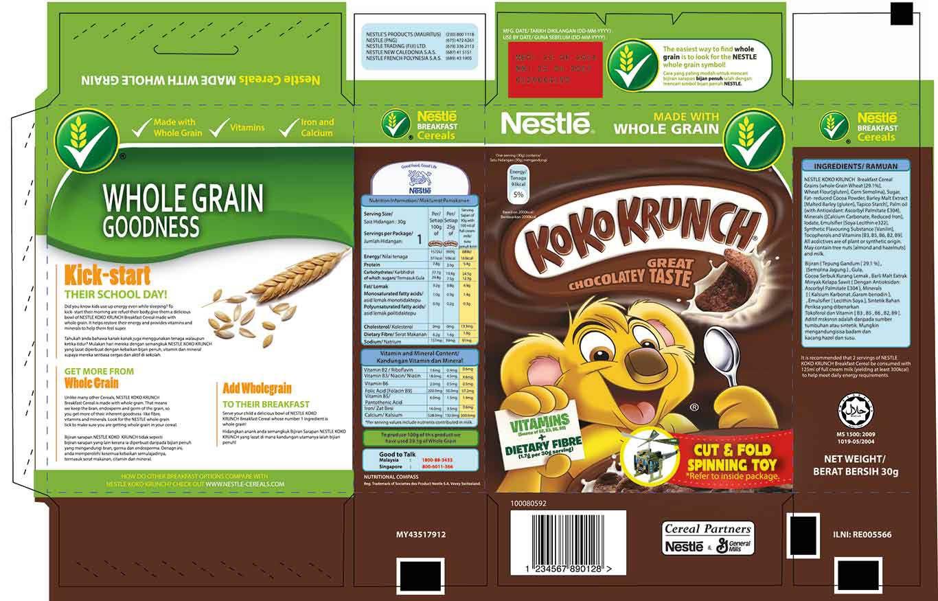 Transformable Packaging For Nestle Koko Krunch Cereal On Behance