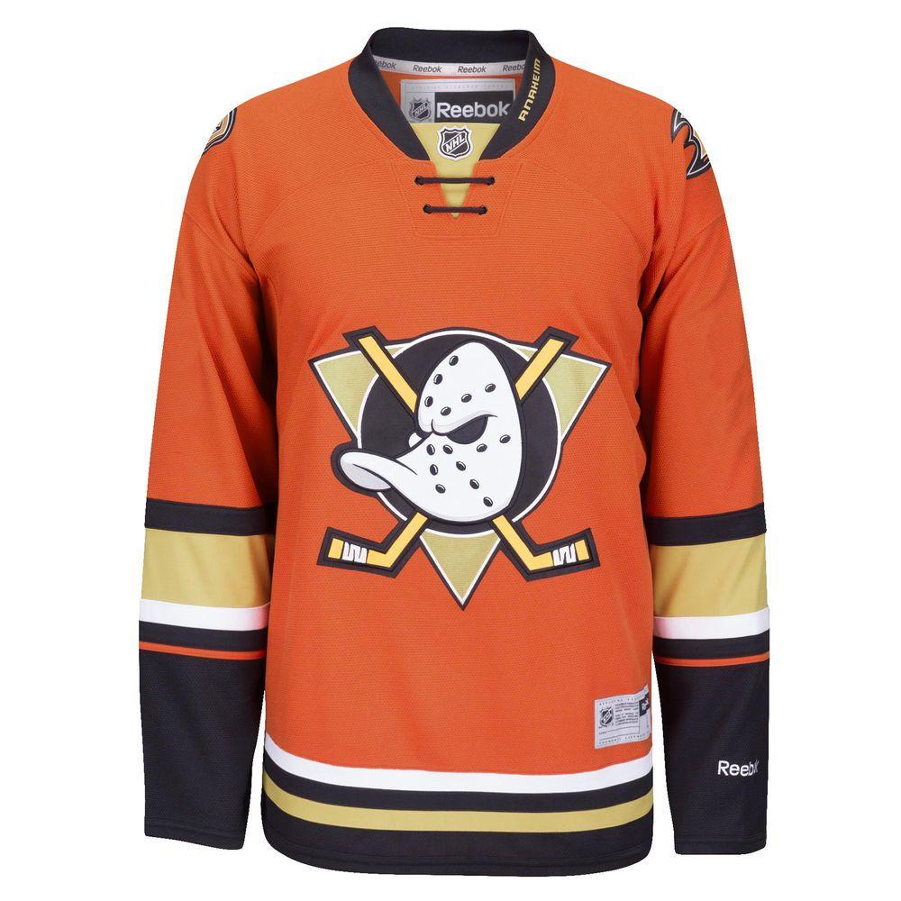 Men s Anaheim Ducks Reebok Orange Alternate Premier Jersey  a6203c3c5