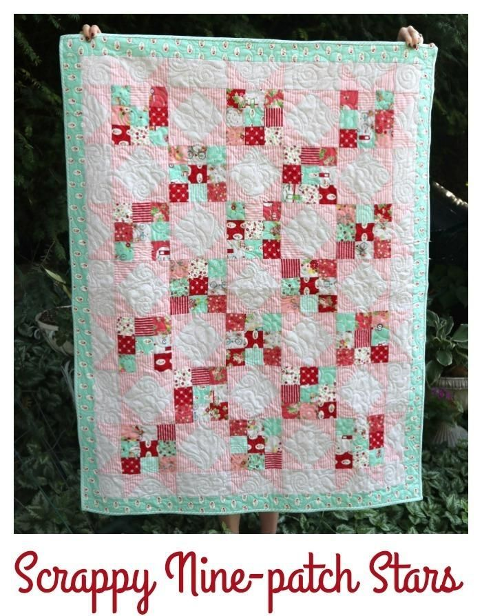 Scrappy Nines Baby Quilt Beautiful Quilts Pinterest Baby