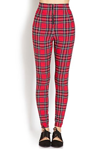 016bb20f High-Waisted Plaid Pants | FOREVER21 - 2000061238 | Style | Plaid ...
