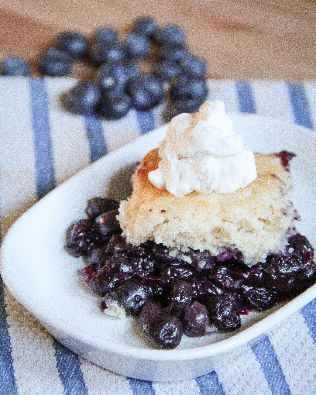 Forbidden Rice Blog: Fresh Blueberry Cobbler    #cobbler #dessert #blueberrycobbler #forbiddenriceblog #recipes