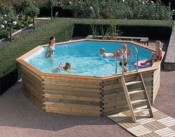 Le piscine hors sol en bois - 50 modèles - Archzinefr Du bois and - piscine hors sol beton aspect bois
