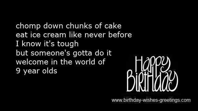 Happy 9 Year Old Birthday Wishes Boys