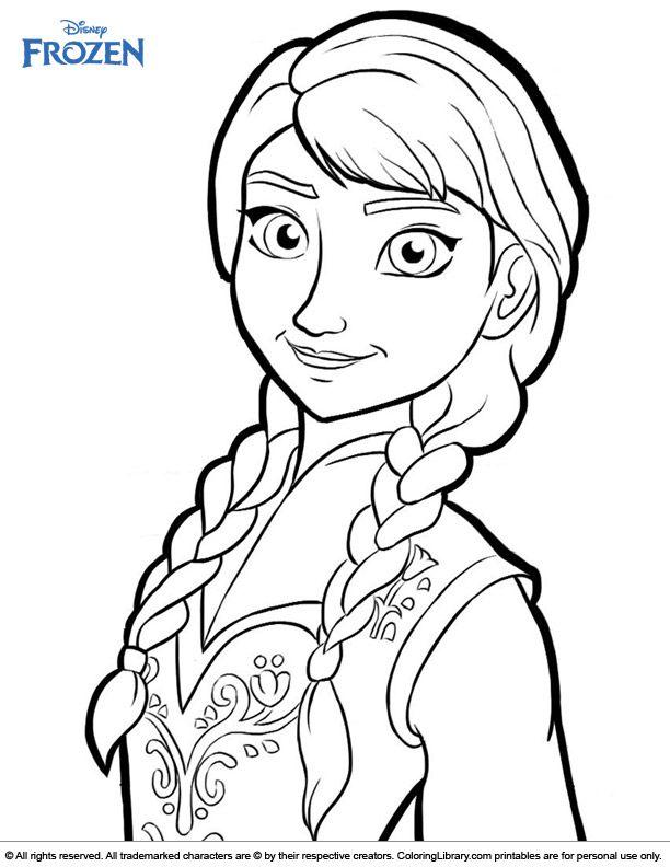 Fun Anna Frozen coloring page | Disney princess coloring ...
