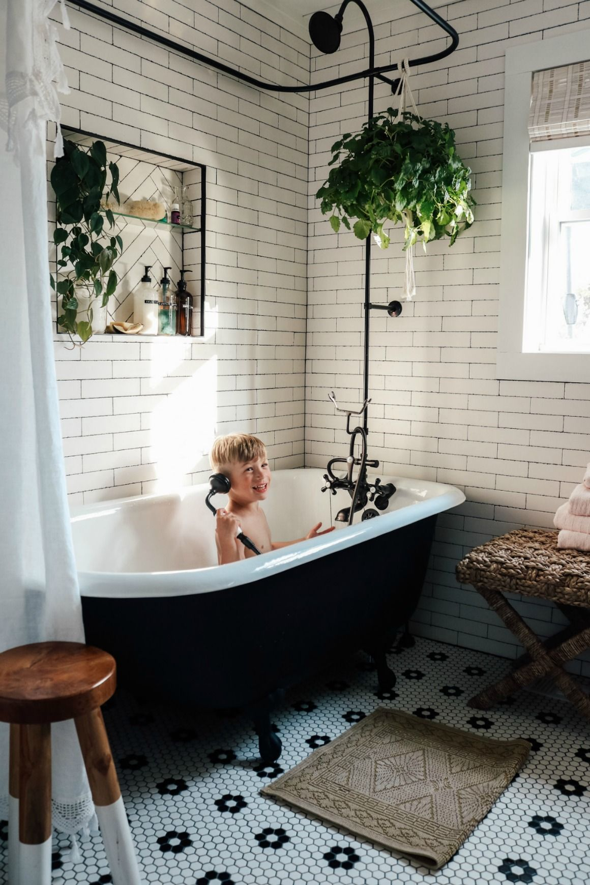 master bathroom reveal with claw foot tub  nesting with