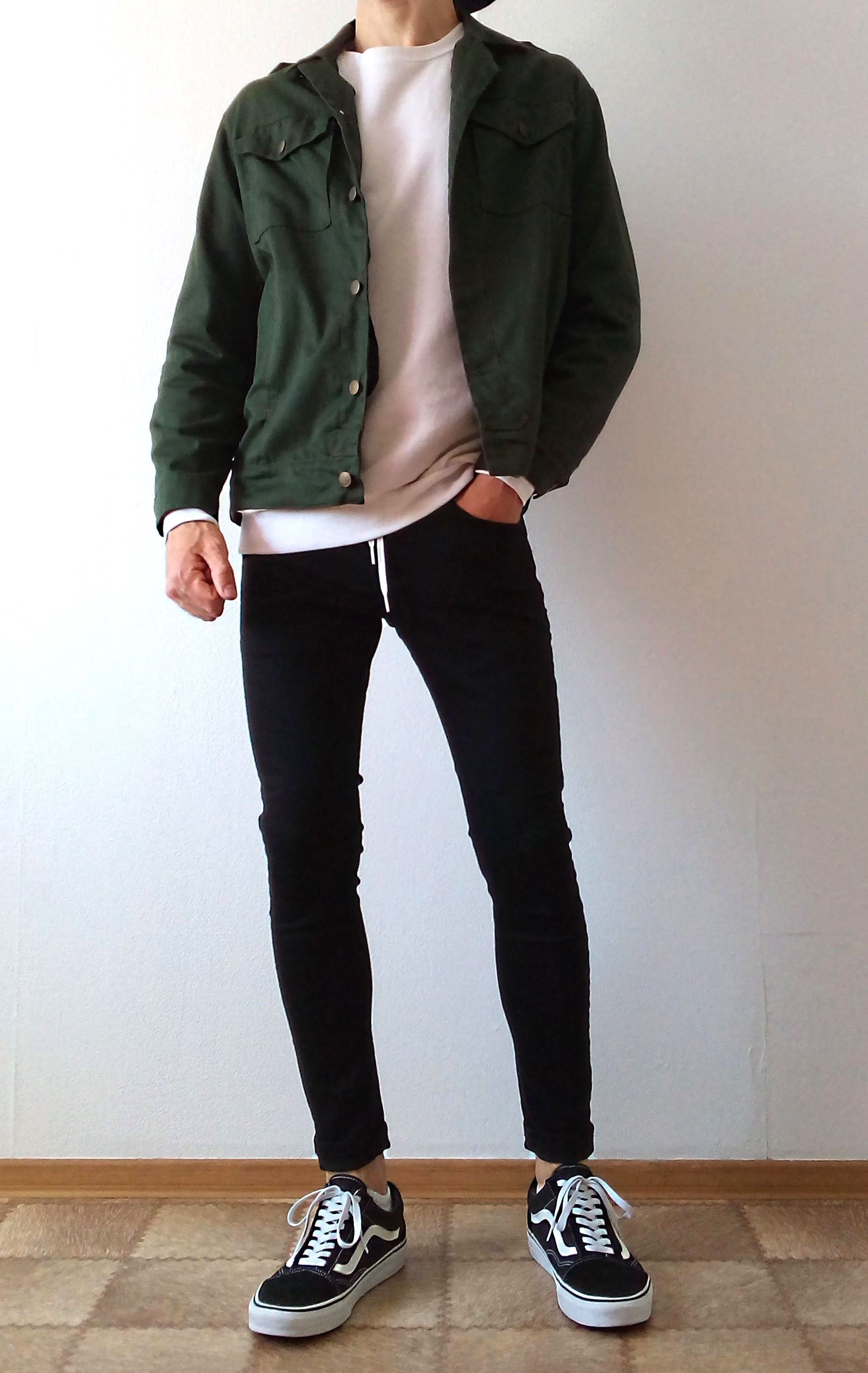 vans old skool black skinny jeans boys guys outfit | Mens