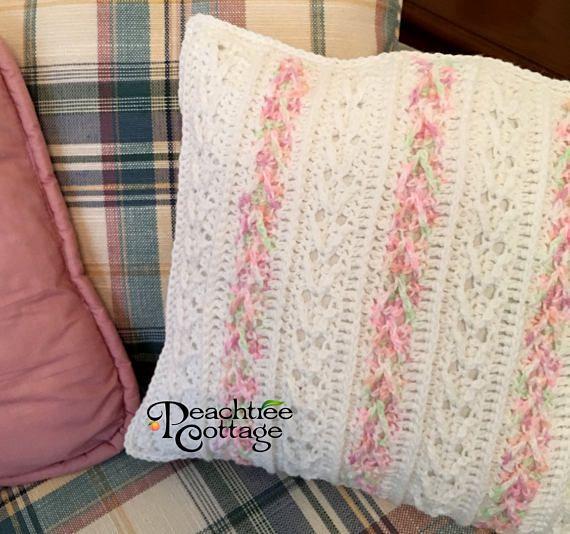 Crochet Pillow Pattern - Avalon Pillow Pattern - Striped Pillow ...