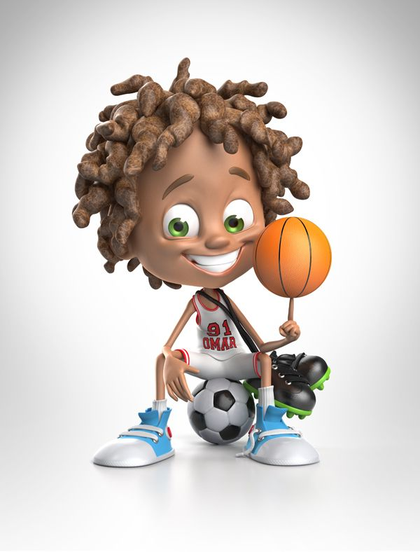 3d Character Design Website : Awesome d kids characters kid foods and