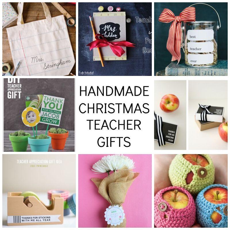 Handmade Christmas : teacher gift tutorials | Christmas craft ...