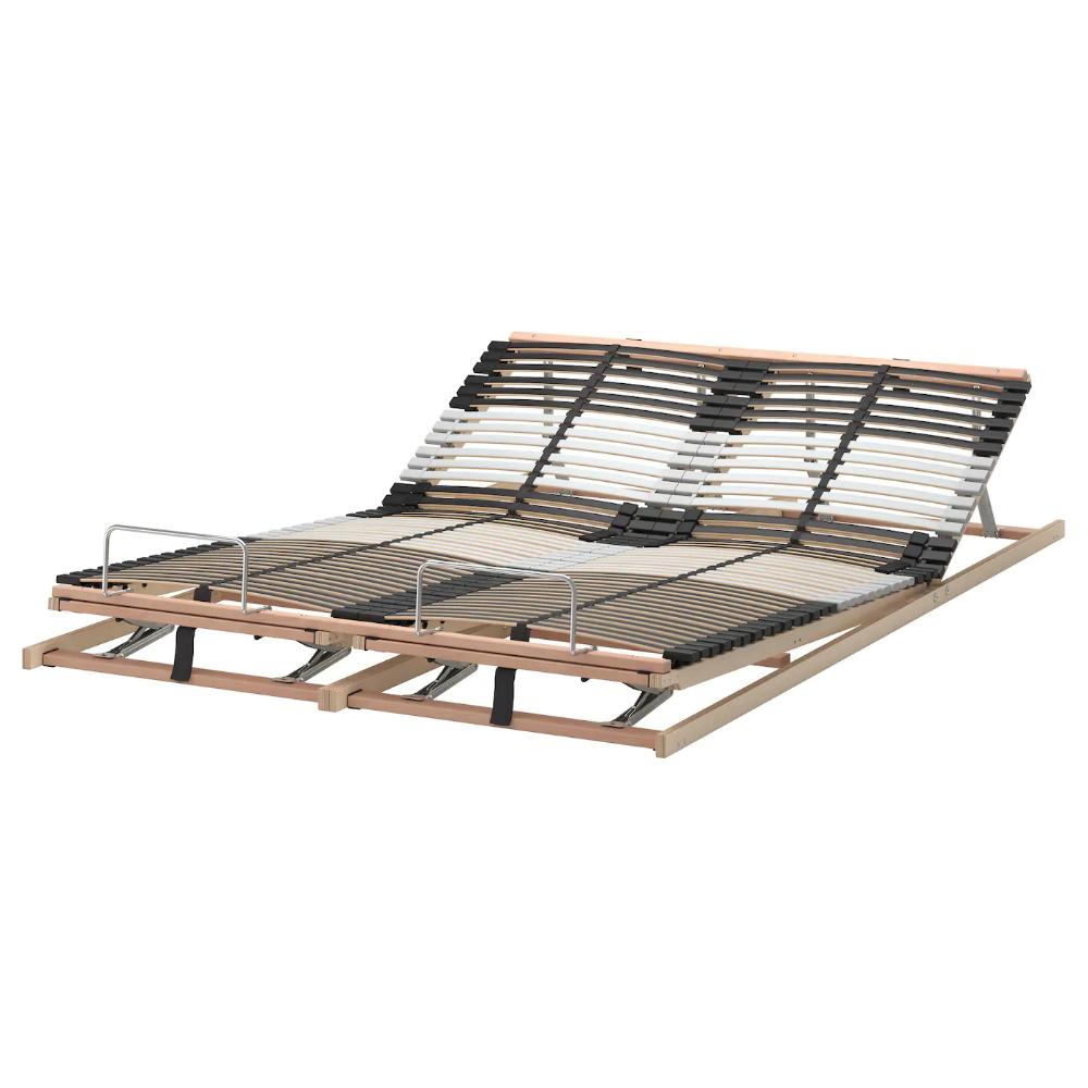 ikea leirsund slatted bed base adjustable 45 layer glued slats divided into 5 comfort zones adjust to yo frame with storage malm full xl over bunk beds