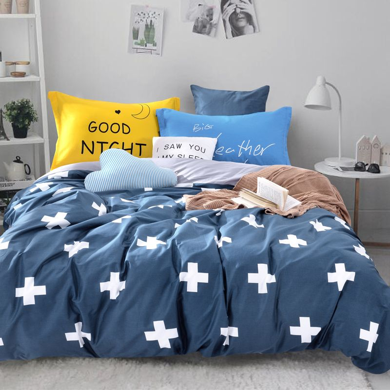 modern carton cotton bedding set duvet