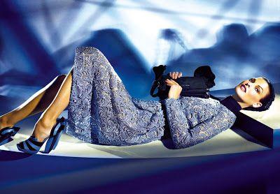 Linda Evangelista in Prada FallWinter ad campaign, by Steven Meisel