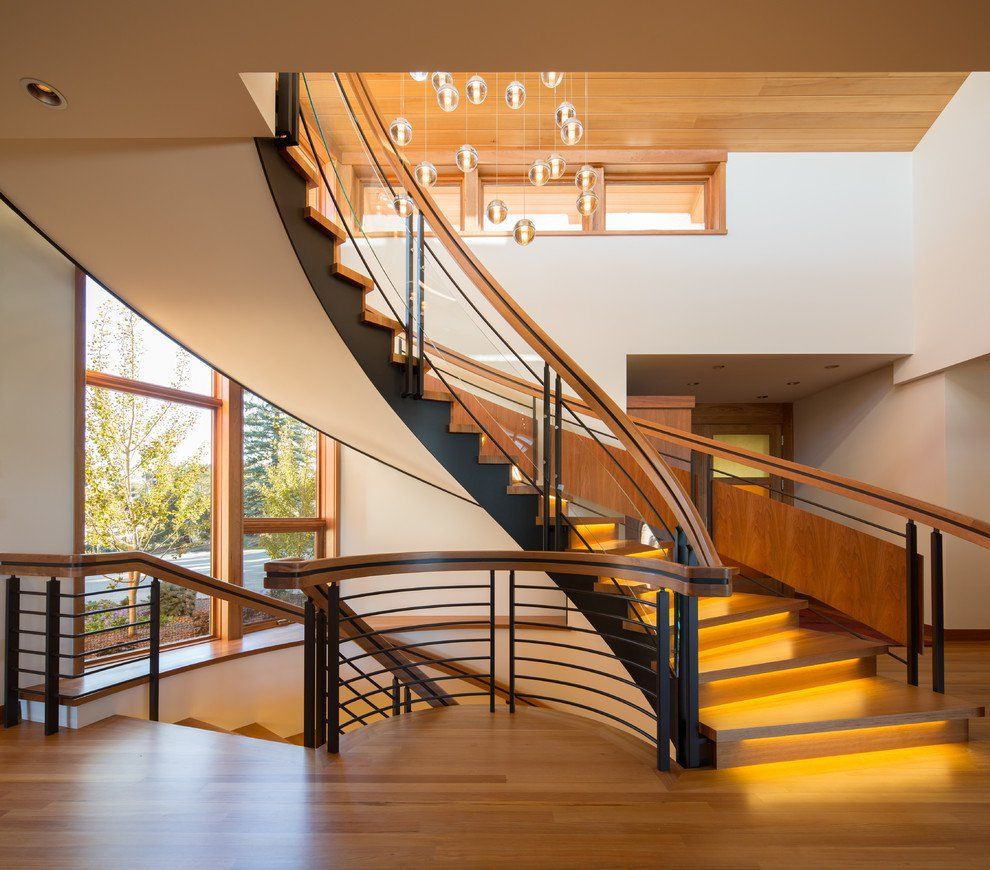 Elegant 16 Memorable Contemporary Staircase Designs That Will Change Your Home