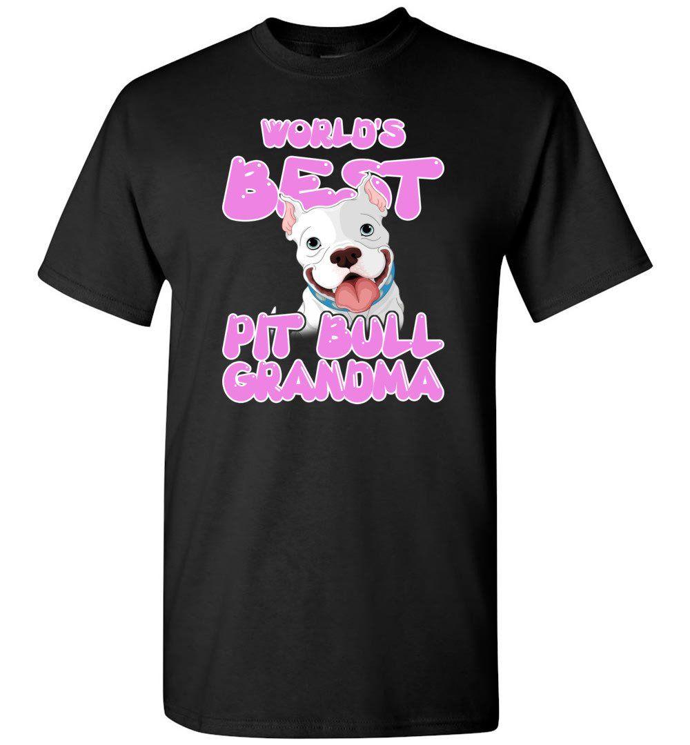 World's Best Pit Bull Grandma Pit Bull Lover Mama Pit Bull Owner - Short Sleeve T-Shirt