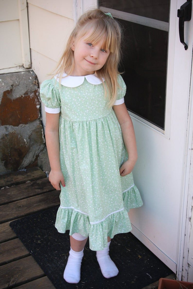 Girls Long Modest Spring Easter Dress With Puffed Sleeves And Etsy In 2021 Pretty Easter Dresses Easter Dress Flower Girl Dresses [ 1191 x 794 Pixel ]