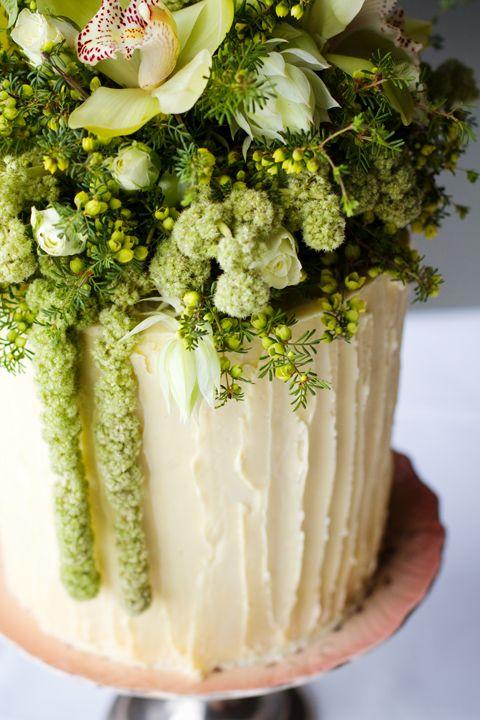 Floral wedding cake | Events | Pinterest | White chocolate ganache ...