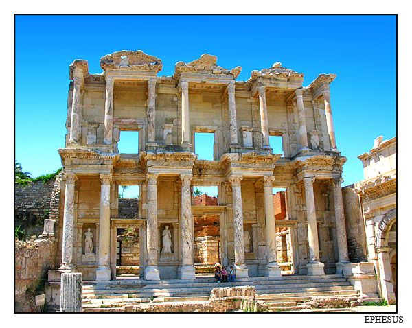 Ephesus Celsus Library By Unique This Photo Was Taken In Izmir Ephesus The Library Of Celsus The Celsus Library Was Erected In A D Ephesus Izmir Turkey