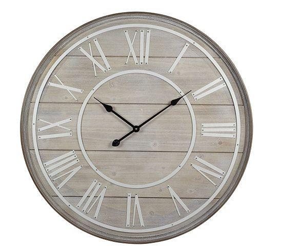 Horloges Horloge Cottage Naturel Blanc Horloge Horloge Murale Horloges