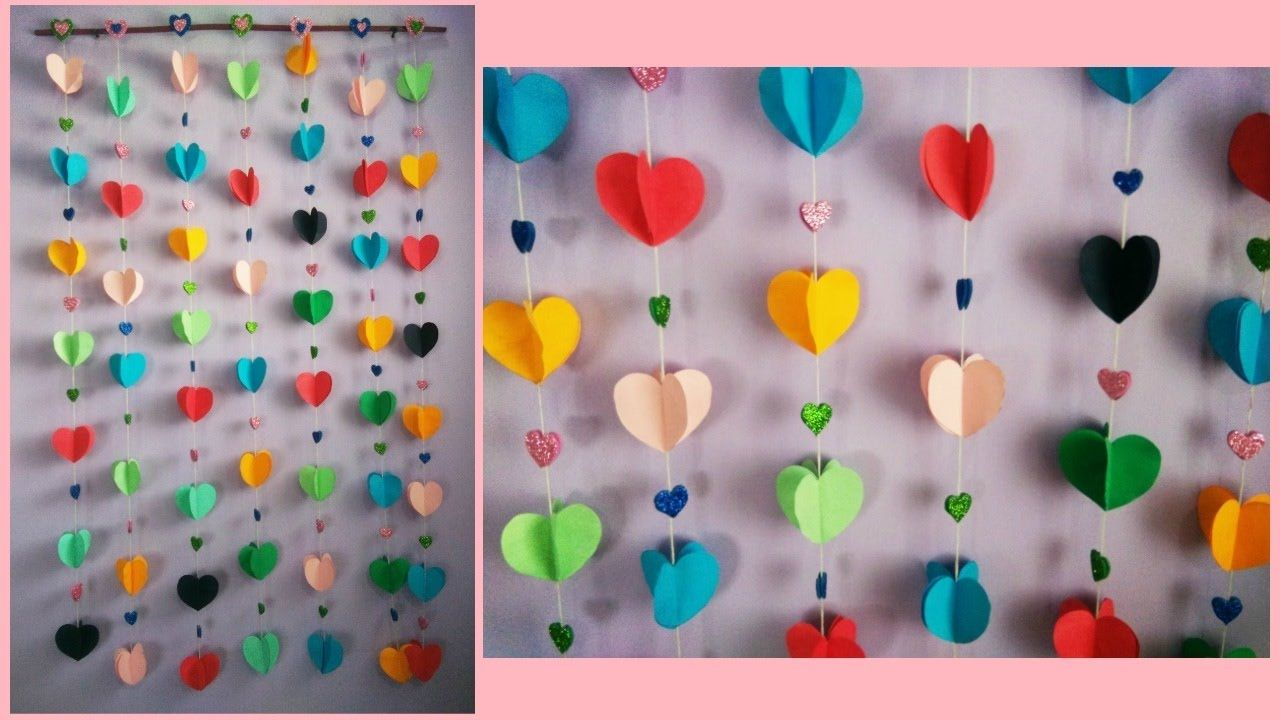 How To Make Easy Paper Wall Hanging Fikirler Duvar Dekorasyon