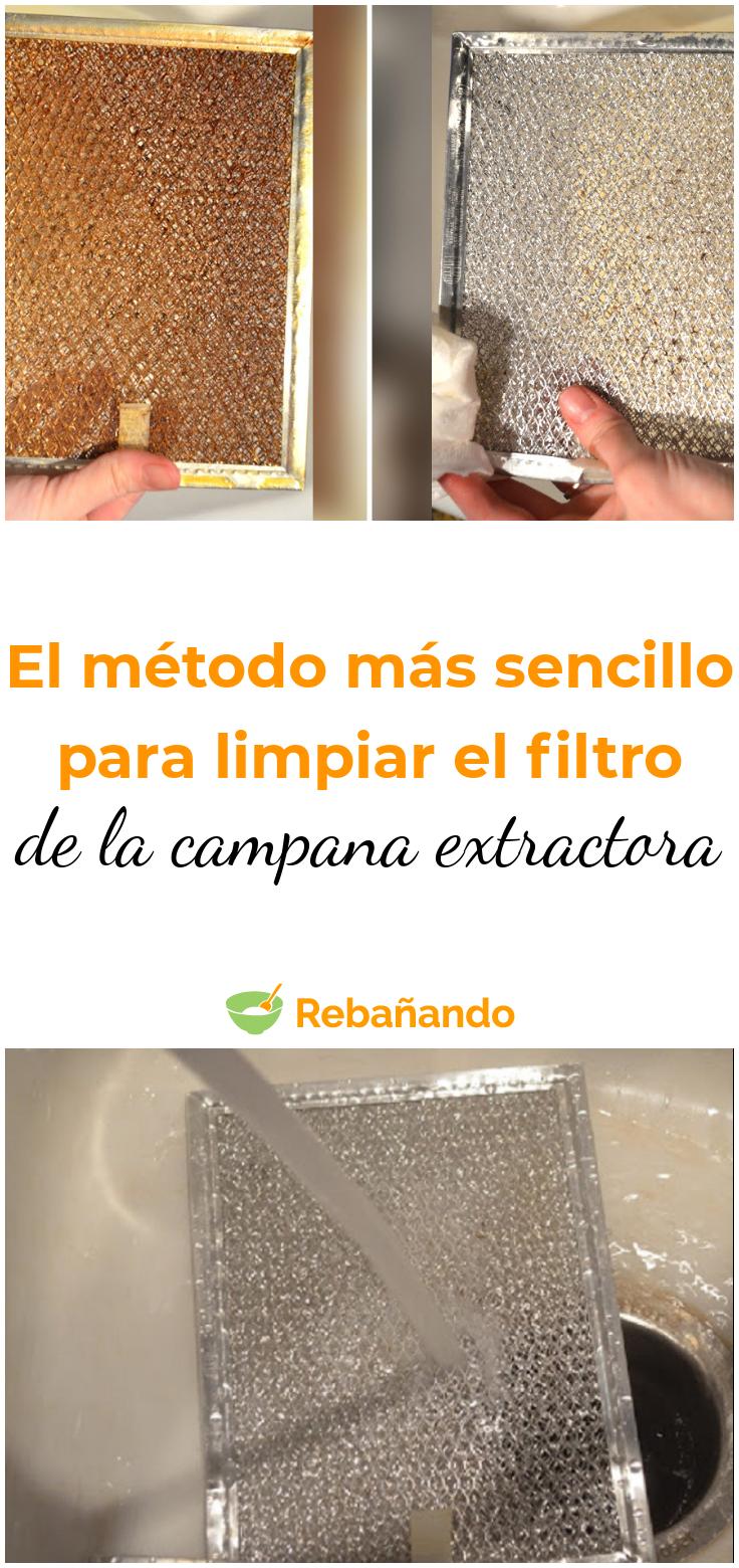 Este Método Acaba Con La Suciedad Del Filtro De La Campana Extractora Trucos De Limpieza Campana Extractora Limpiar Cocina
