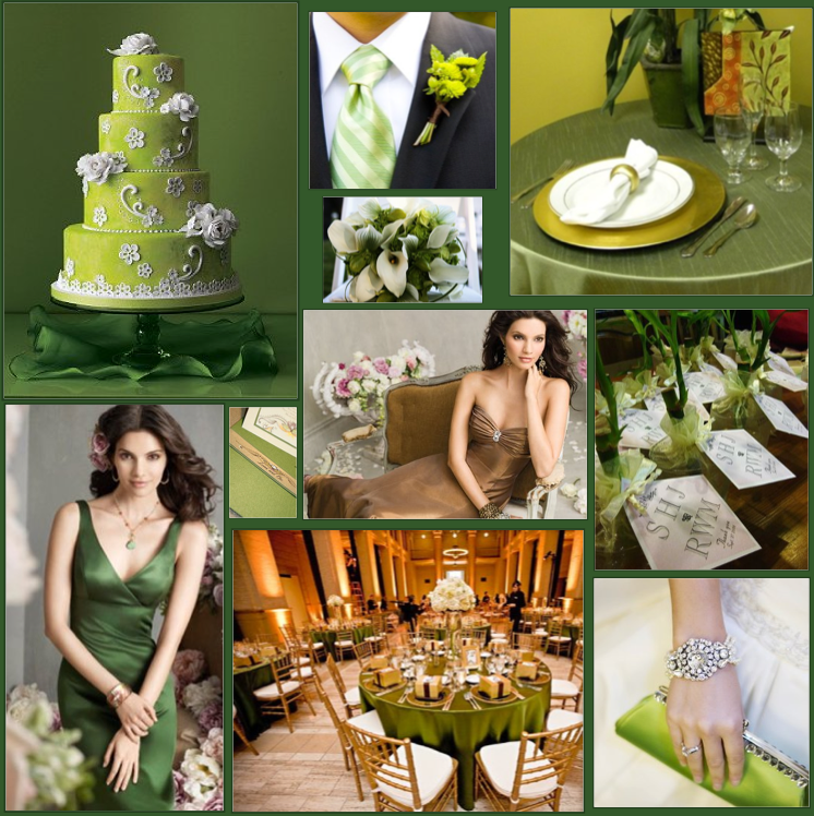 Mint Green And Gold Wedding Colors For A Winter Weddings Style