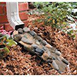 Faux Stone Pebble very good Decorative Garden Down Spout Gutter Water Rain Splashing Block Yard Garden Decoration