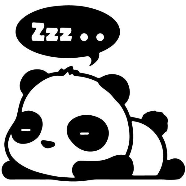 "ZZZ SLEEPING PANDA sleeper JDM Tuner 5"" (color BLACK) Die-Cut Vinyl... ($6.50) ❤ liked on Polyvore featuring animals, fillers, art and backgrounds"