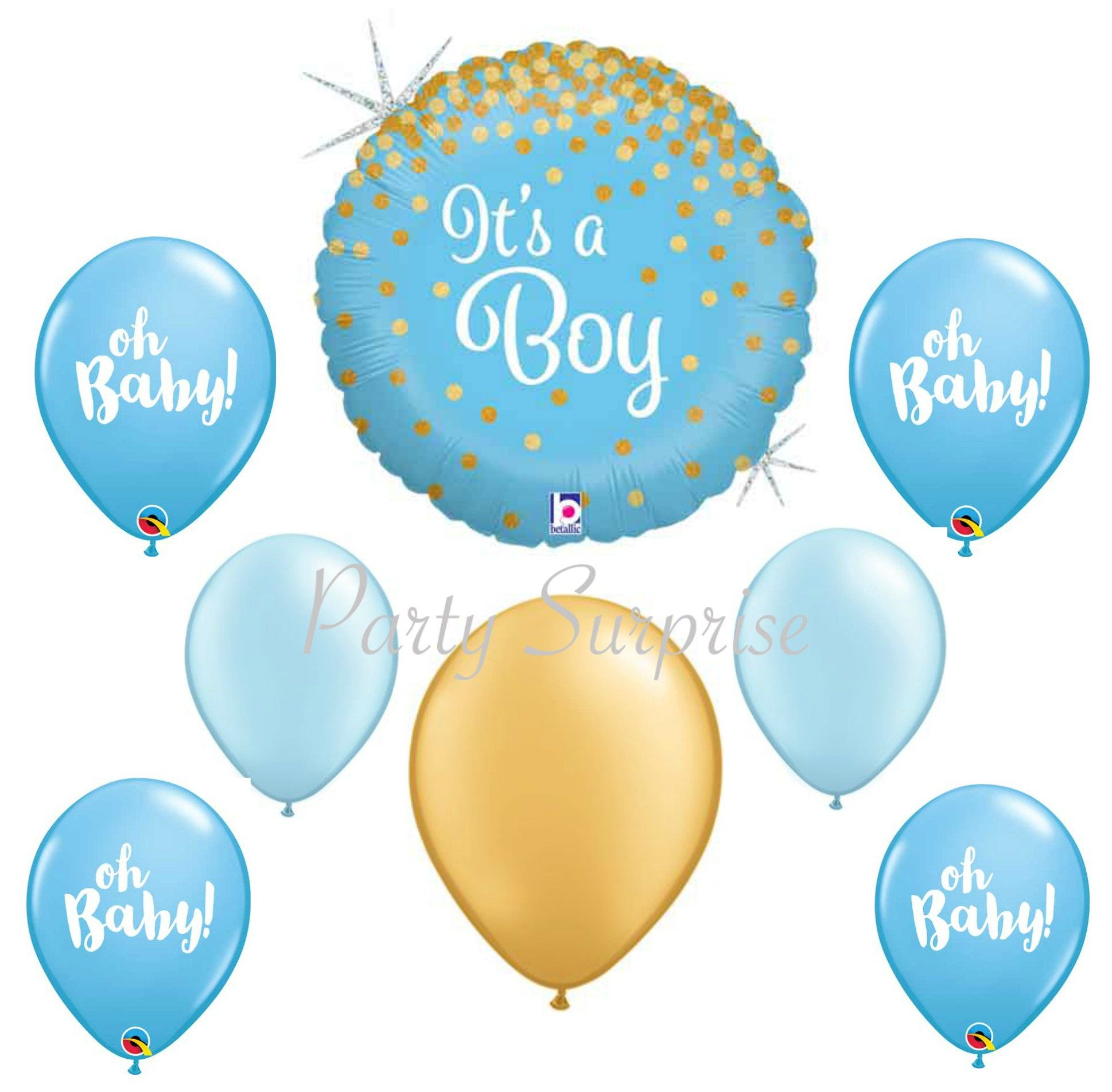 Oh Baby Boy Balloons Blue Gold Boy Baby Shower Its A Boy Balloons Blue And Gold Balloons New B Its A Boy Balloons Baby Boy Balloons Baby Birthday Decorations