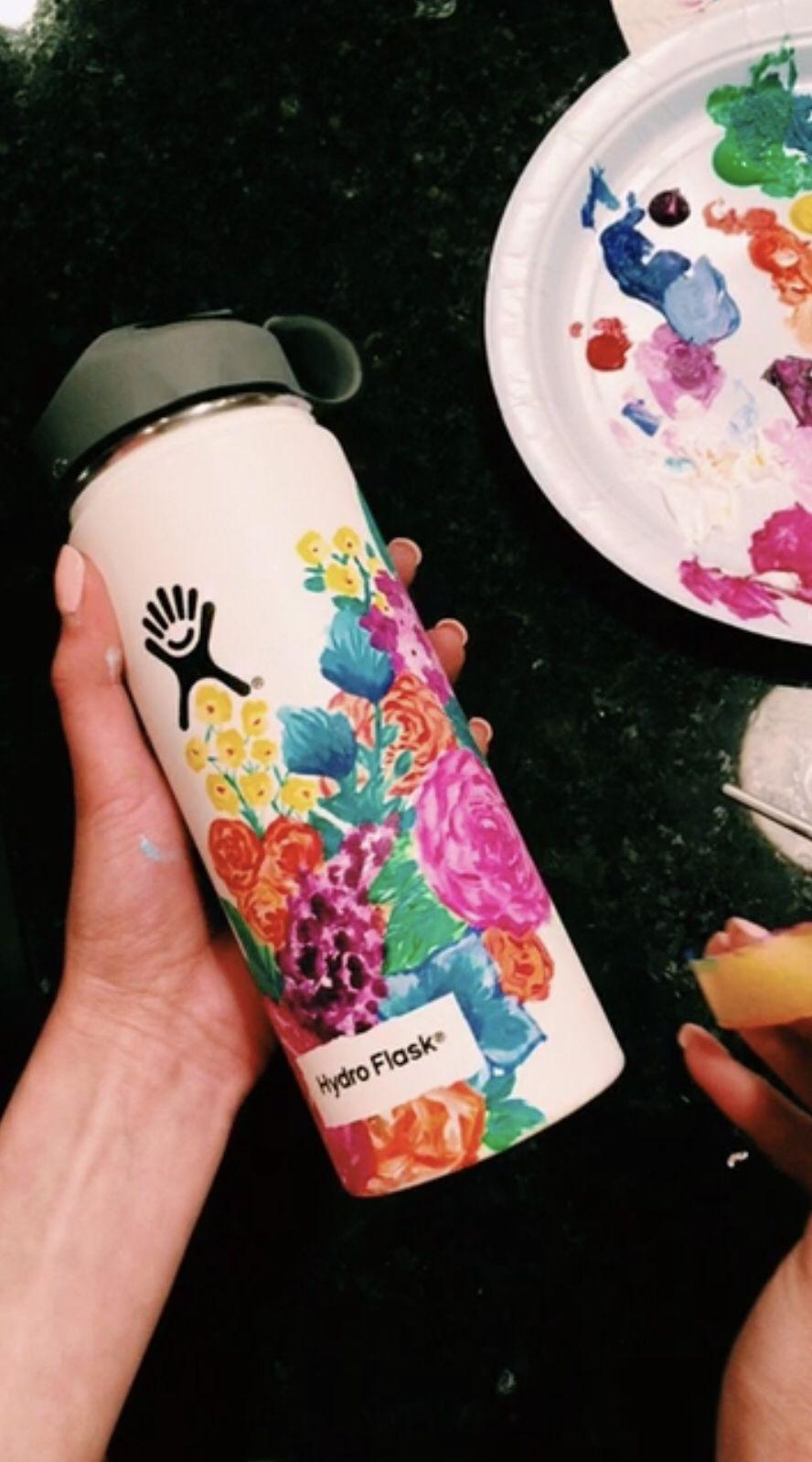 Pin By Marie Betz On Hydroflask Flask Art Water Bottle Art