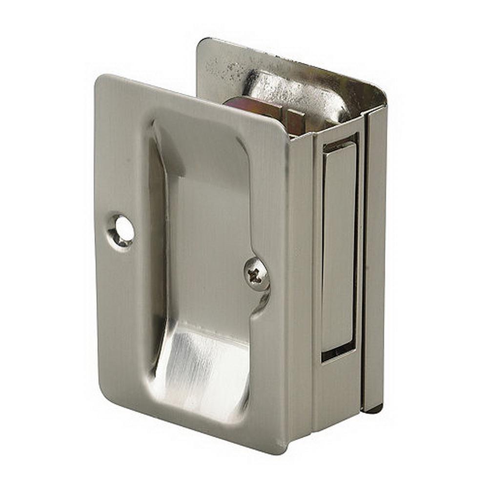 Privacy Satin Nickel Pocket Door Pull Lockset Lock